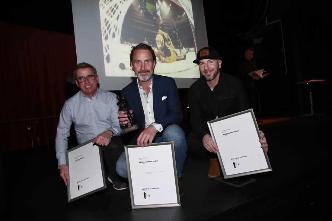 Anders Deros, Niclas Hammarström och Magnus Wennman.