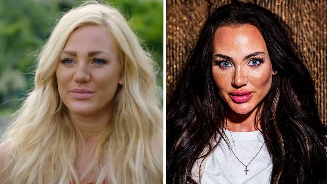 """Till vänster: Alexandra Nord i """"Bachelor"""" 2017. Till höger: Alexandra Nord i dag."""
