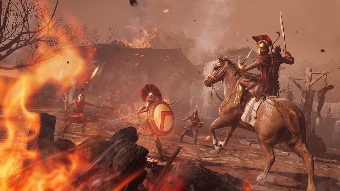 """En bild ur Ubisofts """"Assassin's creed odyssey"""" som Google använt för att testa sin strömningsteknik med. Pressbild."""