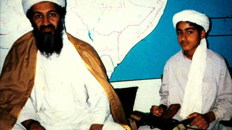 Usama bin Ladin och sonen Hamza.