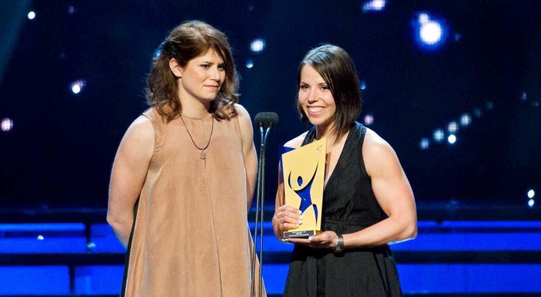 Ida Ingemarsdotter och Charlotte Kalla på Idrottsgalan 2012