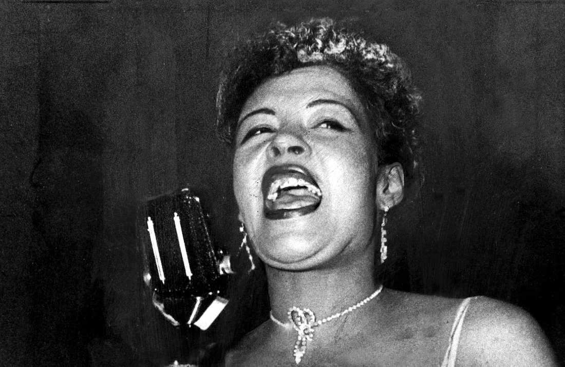 "Billie Holiday är föremål för två olika film- och tv-satsningar just nu. En dokumentär och så spelfilmen ""The United States vs Billie Holiday"". Arkivbild."