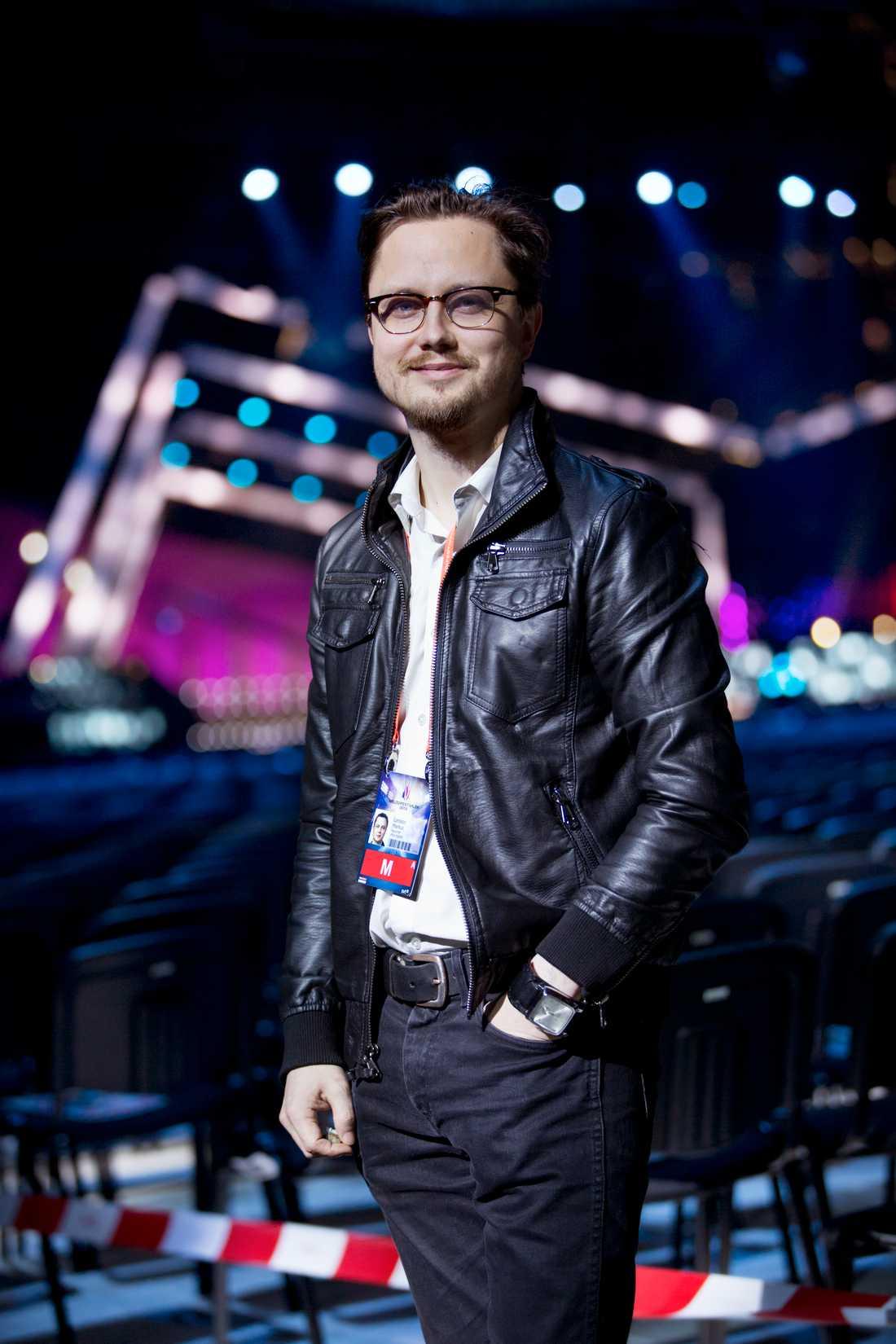 Markus Larsson i Friends arena.