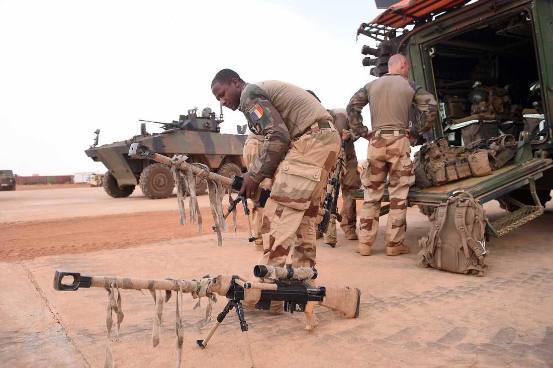 Franska soldater som ingår i Operation Barkhane i Mali. Task Force Takuba kommer att vara en separat del av den insatsen. Arkivbild.