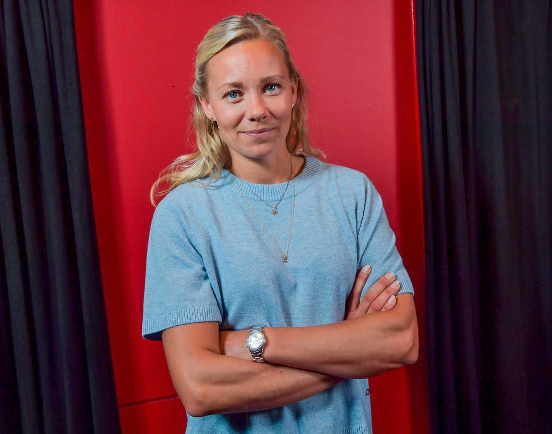 """Frida Hansdotter tvekade inte när hon fick frågan om att vara med i SVT-programmet. """"Det är ju en ära att få vara med i 'Mästarnas mästare'"""", säger hon."""