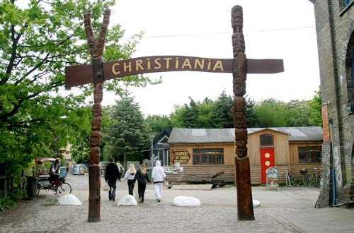 Stadsdelen Christiania i Köpenhamn.