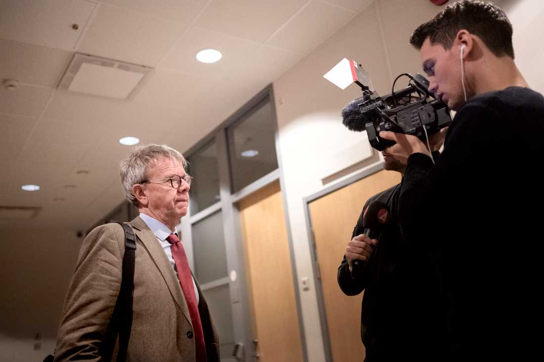Åklagaren Thomas Ahlstrand i samband med rättegången mot den nu dömde mannen.
