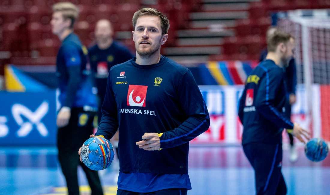 Albin Lagergren tränade med Sverige i torsdags och hoppas på spel mot Norge på söndag. Arkivbild.