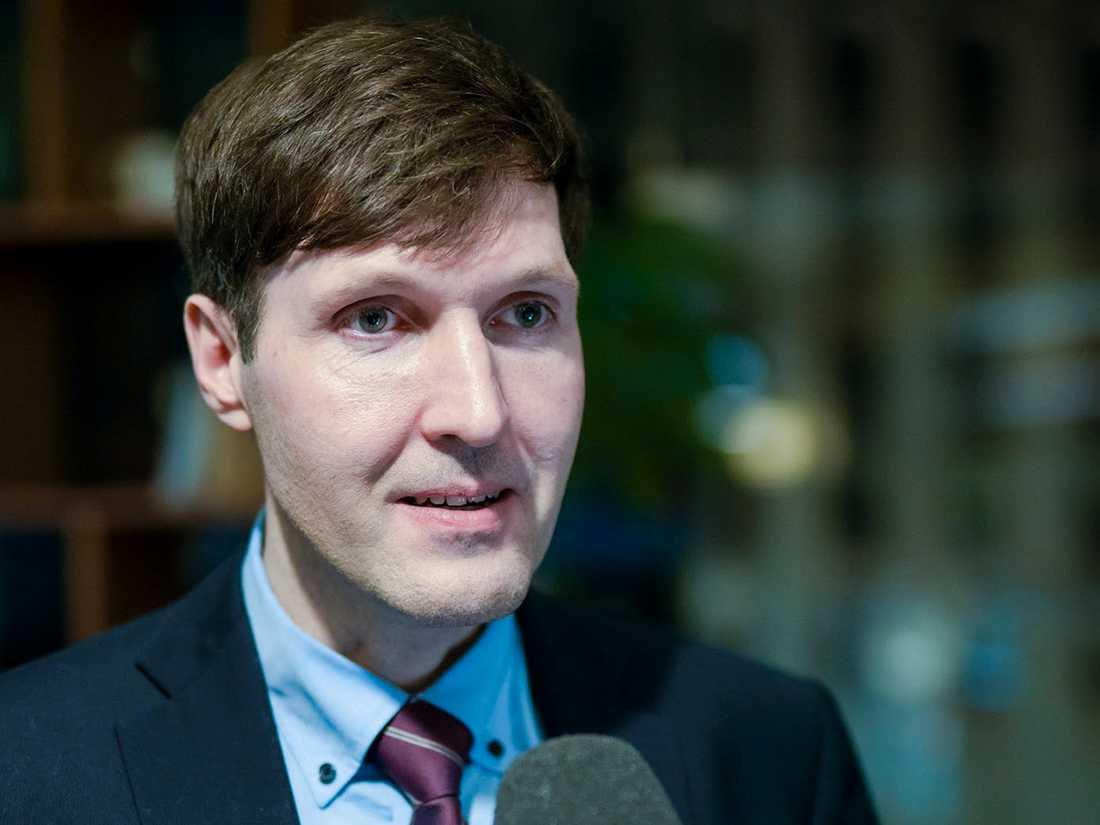 Martin Helme tog över ordförandeskapet i nationalistpartiet Ekre från sin far Mart Helme i somras. Arkivbild.