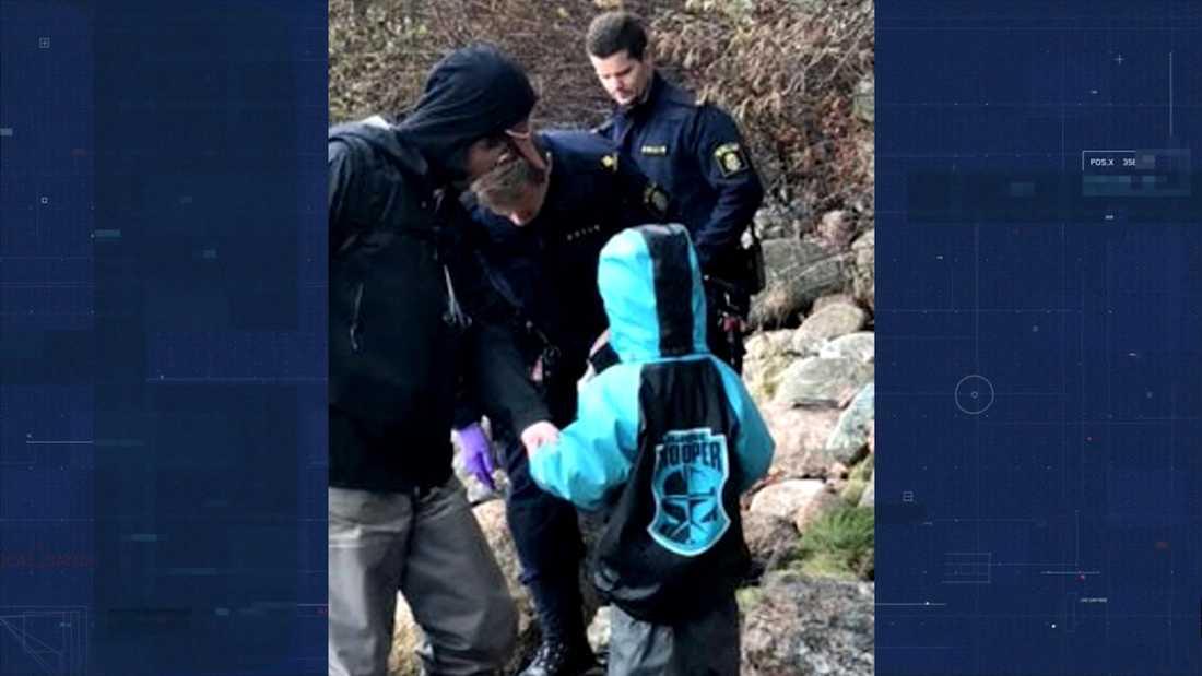 Mänsklig käke hittades i en vik utanför Munkedal