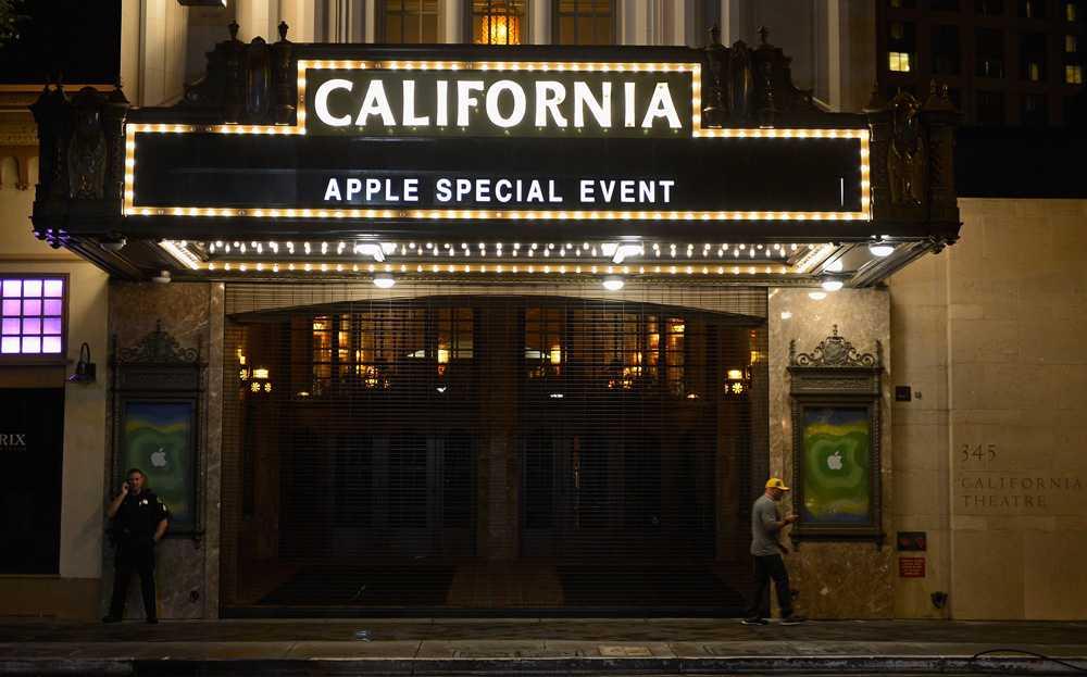 Här, på California Theatre i San José, väntas Apple i kvbäll presentera sin nya Ipad.