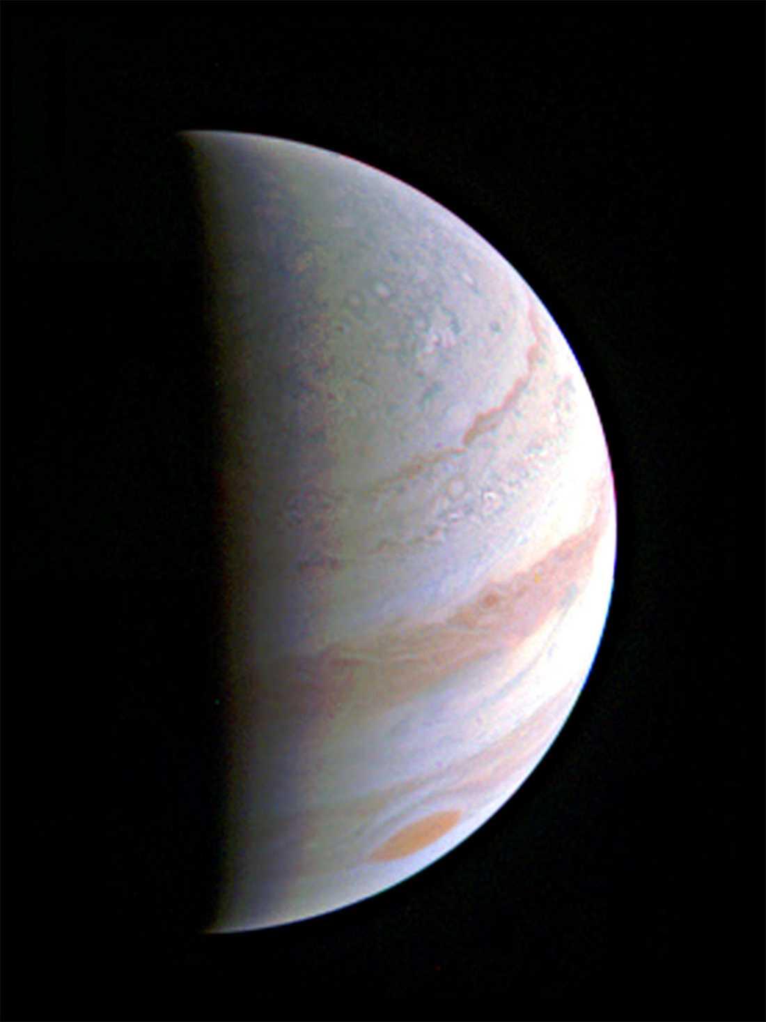 Gasjätten Jupiter, den femte planeten från solen.