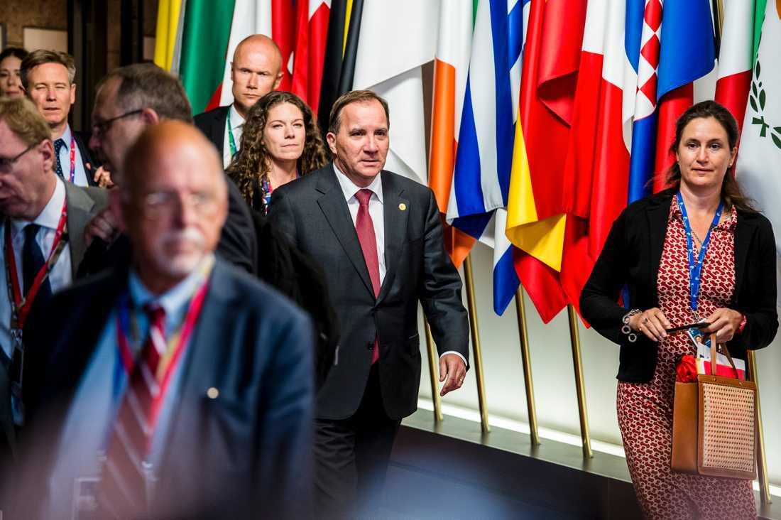 Statsminister Stefan Löfven är inte helt nöjd med kvällens beslut.