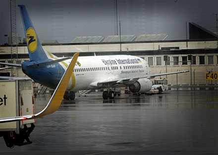 Ukraine International blev kvar på Arlanda efter mellanlandningen.