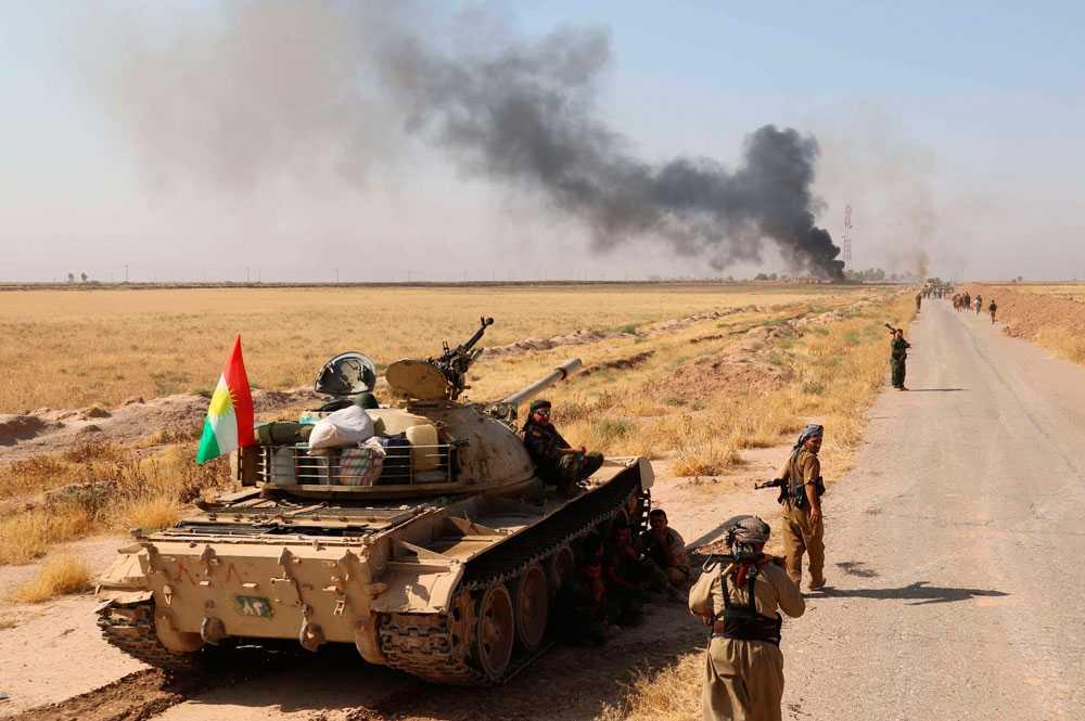 Kurdiska peshmergagrupper drev ut IS från tio byar