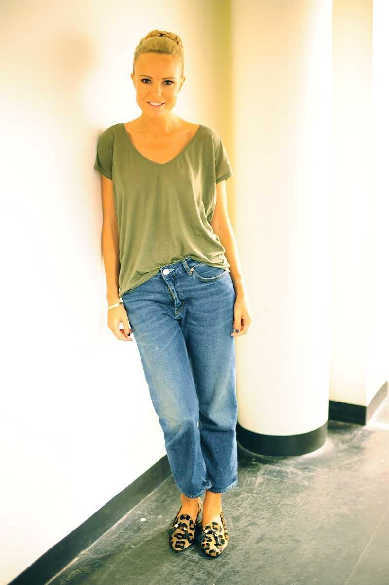 T-shirt - Zara, Jeans - Acne, Skor - Rizzo.