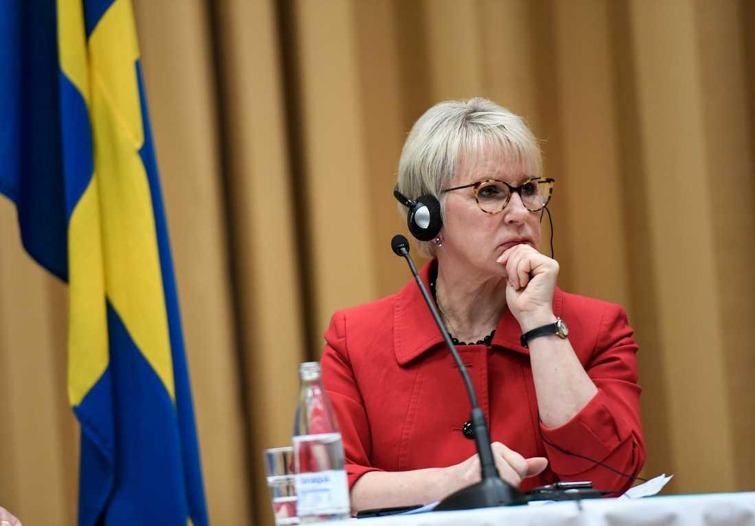 Utrikesminister Margot Wallström (S). Arkivbild.