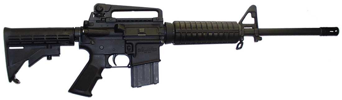 En Bushmaster .223. Adam Lanza använde ett gevär av den här typen när han mördade eleverna och lärarna.