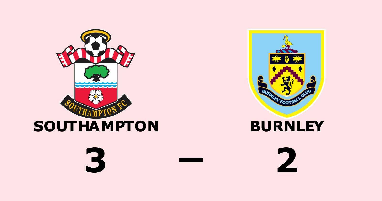 Southampton vann hemma mot Burnley