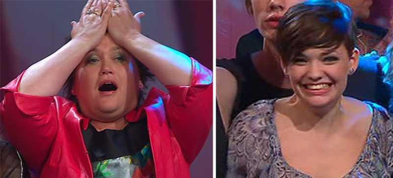Helena Salo och Moa Johansson tog sig till final med sina ballader.