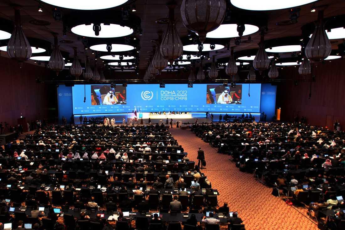 På måndagen inleddes FN:s artonde klimatmöte i Doha.