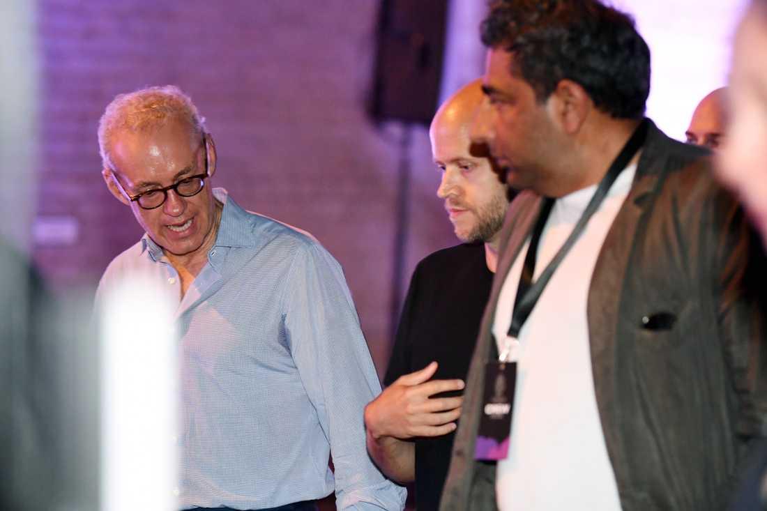 Spotifys grundare Daniel Ek (mitten).