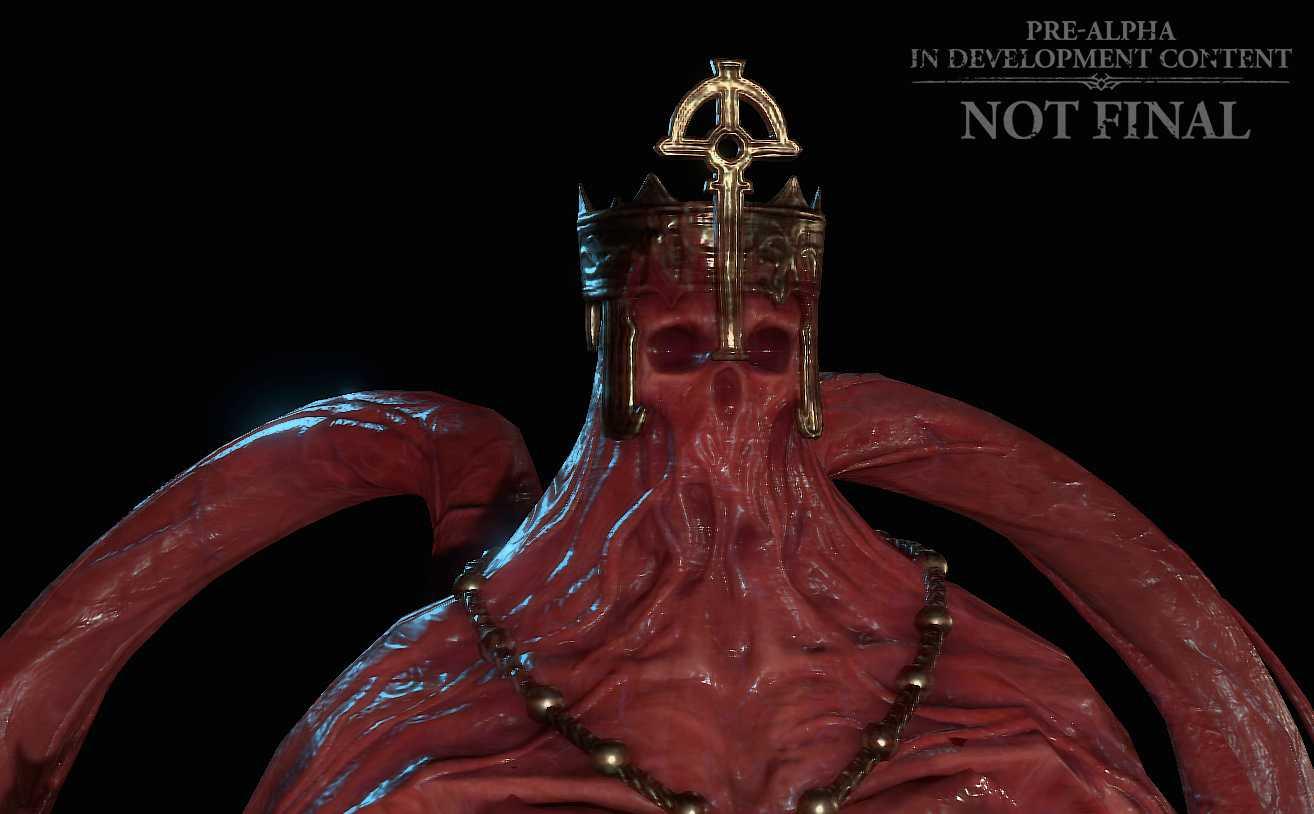 """""""The blood bishop"""" är ett nytt monster i spelet som visas upp."""