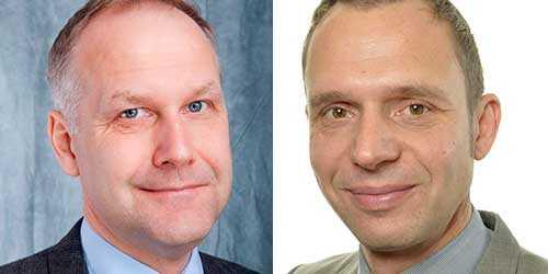 Jonas Sjöstedt (V) och Jens Holm (V).