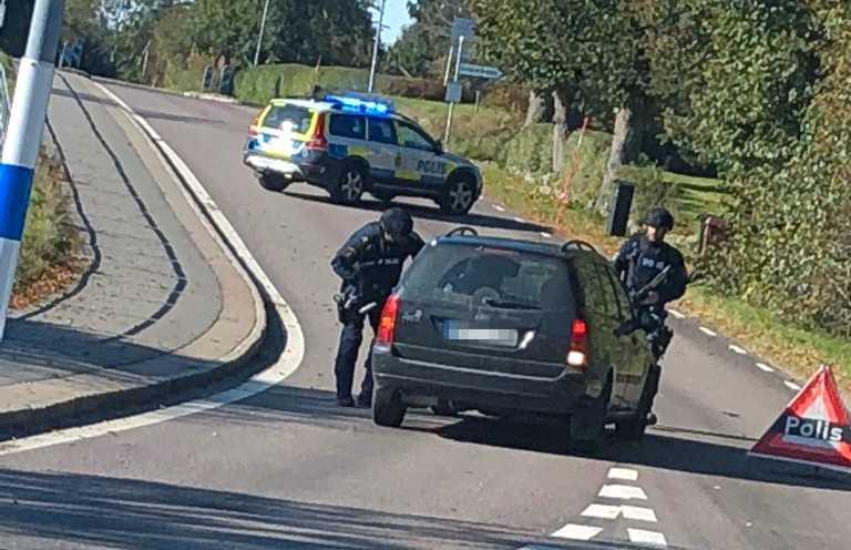 Polispådrag i Rävlanda.
