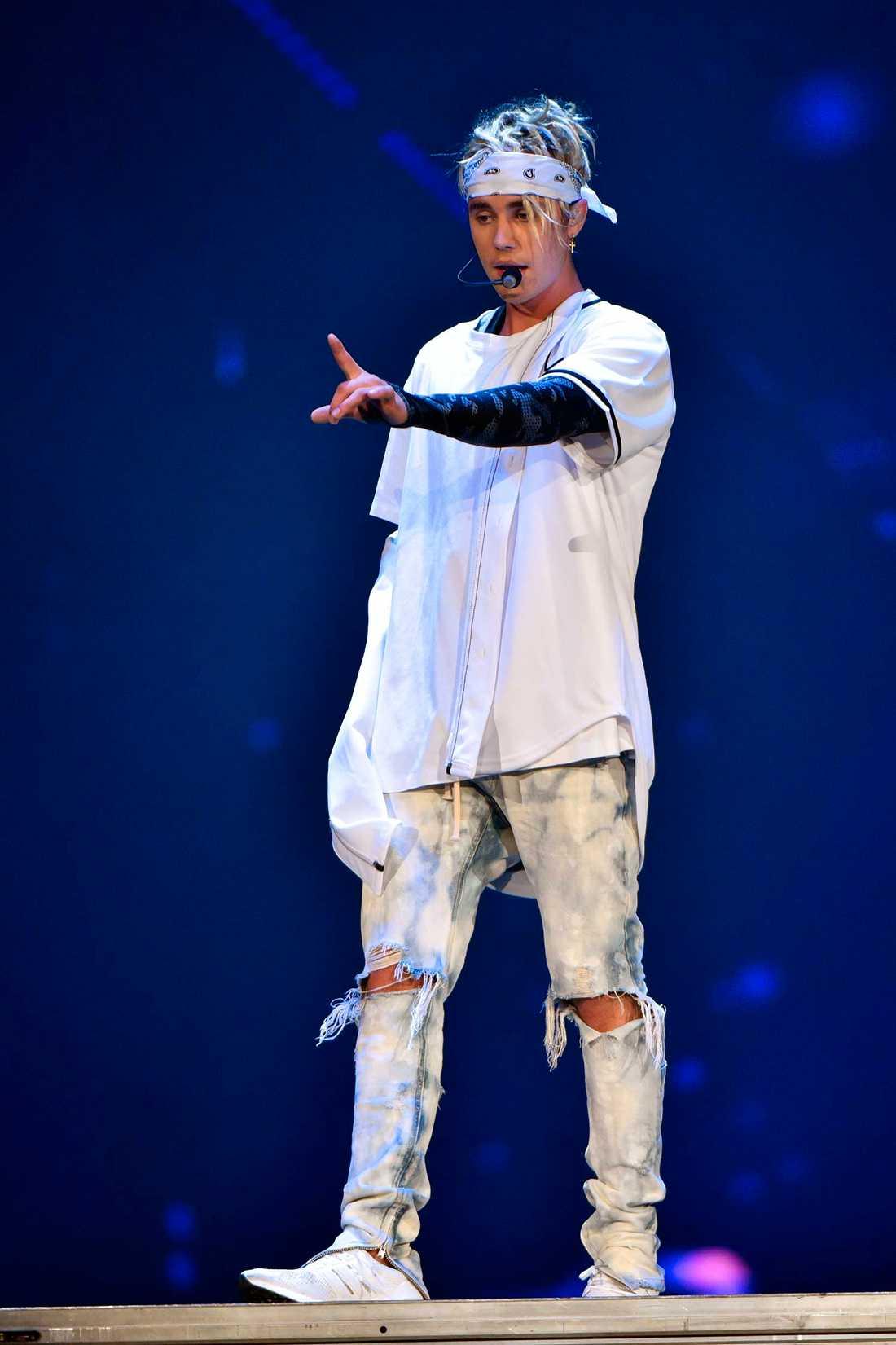 Justin Bieber på scen.