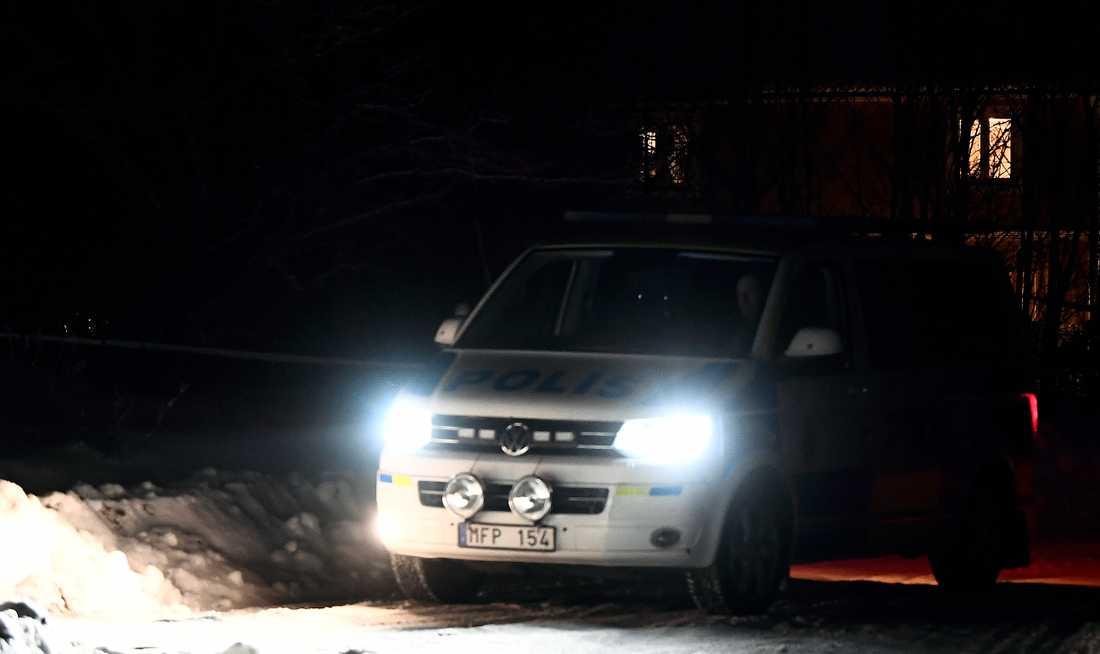 Larmet i Sala kom till polisen strax före halv tio på onsdagkvällen.