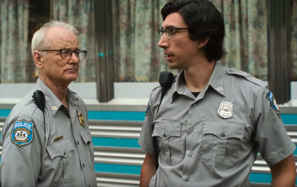 "Bill Murray och Adam Driver i ""The dead don't die""."