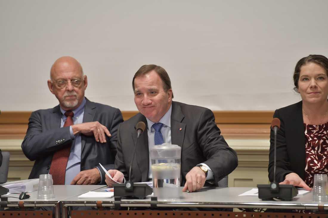 Stefan Löfven (s) på EU-nämndens sammanträde.