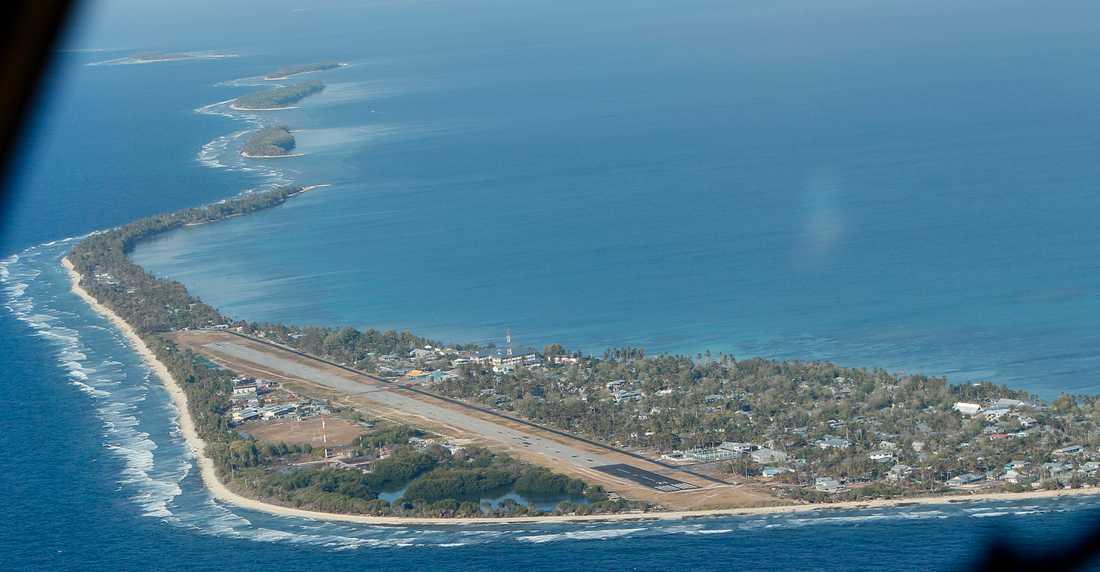 Årets PIF-möte arrangeras av Tuvalu. Arkivbild på rikets huvudö Funafuti.