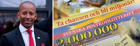 Postkodlotteriets vd Niclas Kjellström-Matseke tjänar mångmiljonbelopp varje år.