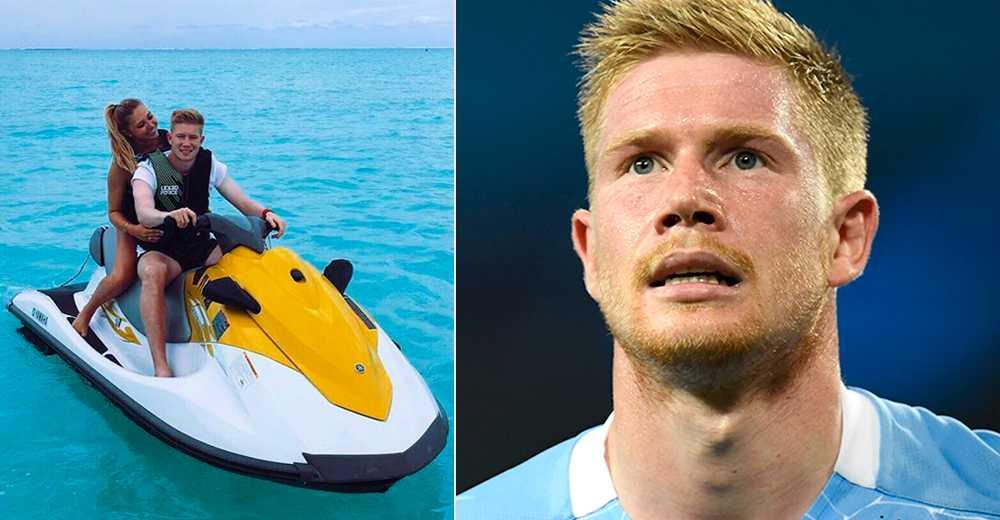 Kevin de Bruyne påstår att han inte har haft någon semester på två år. Bilden till vänster från Bora Bora 2017.