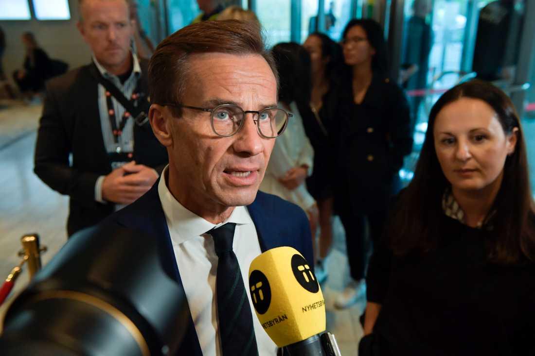 Moderaternas partiledare Ulf Kristersson har träffat Socialdemokraternas ledare Stefan Löfven för att sondera underlaget för en ny regering. Arkivbild.
