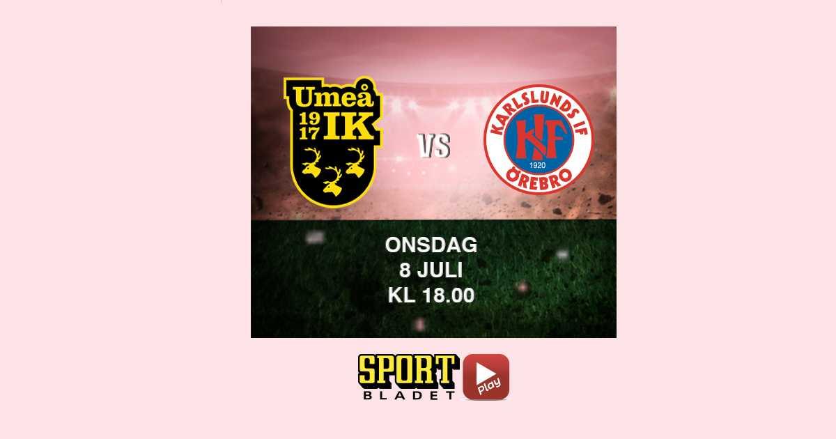 18.00: Se Umeå–Örebro på Sportbladet Play