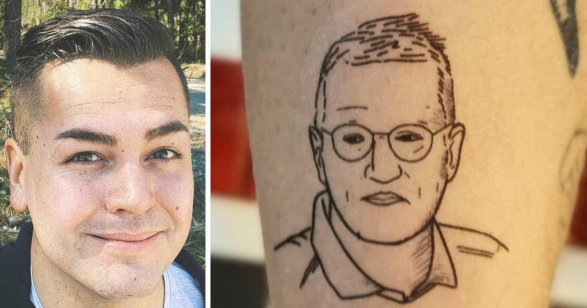 Gustav, 32, ska tatuera in Anders Tegnells ansikte på armen