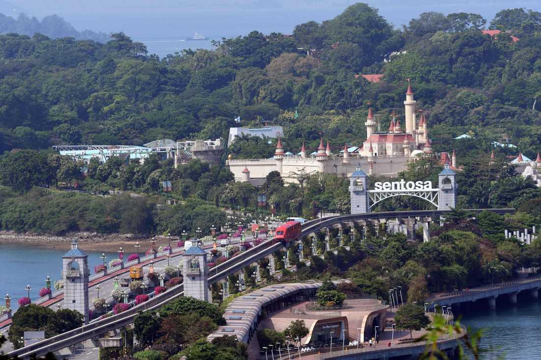 Kim Jong-un och Donald Trump ska träffas på lyxön Sentosa i Singapore.