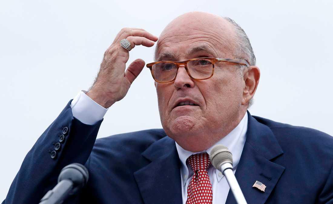 Donald Trumps advokat Rudy Giuliani. Arkivbild.