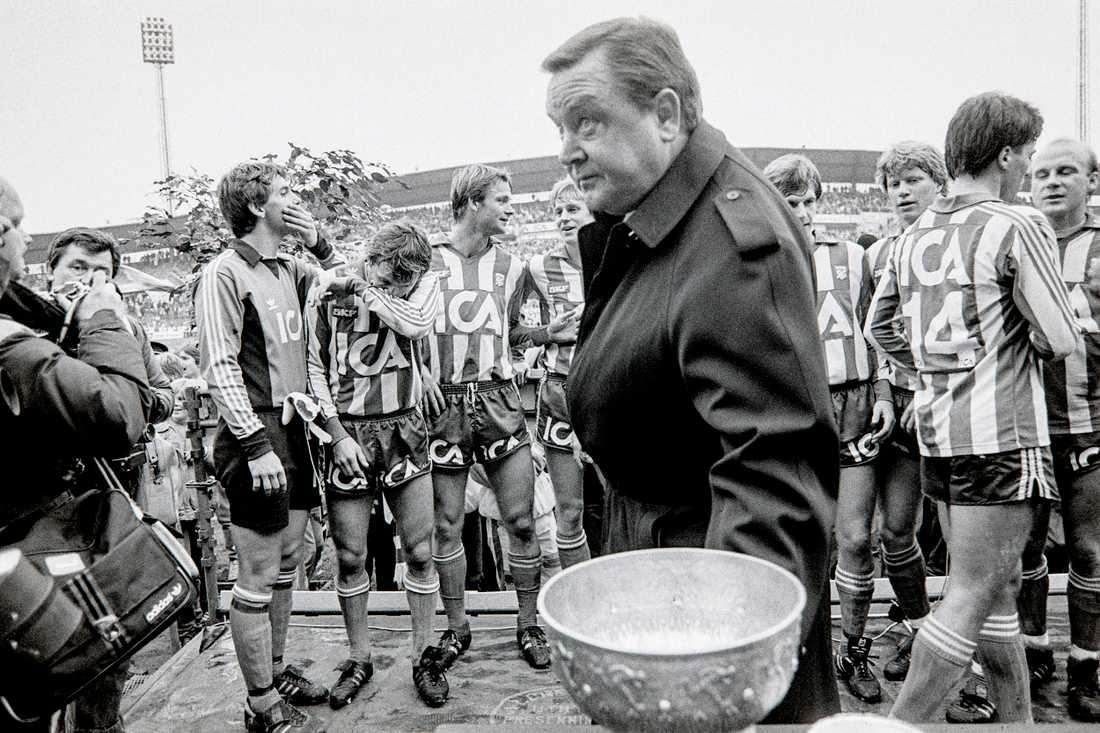 Lennart Johansson under SM-finalen mellan IFK Göteborg och Norrköping 1984.