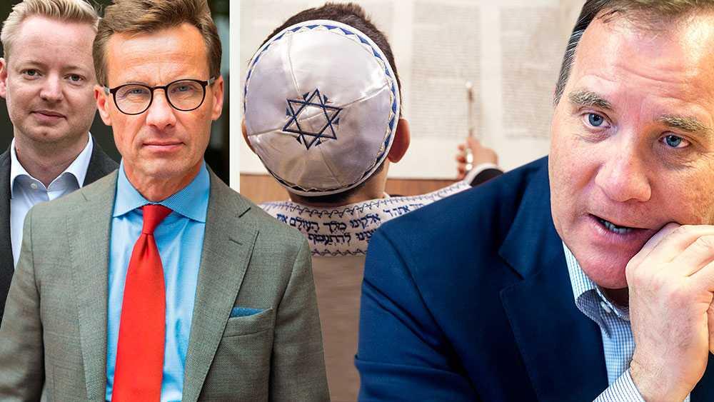 Socialdemokraterna abdikerar från kampen mot antisemitism när det väl gäller. Det räcker inte att hålla högtidstal mot antisemitism, om man till vardags låter den passera, skriver Ulf Kristersson och Torbjörn Tegnhammar (M).