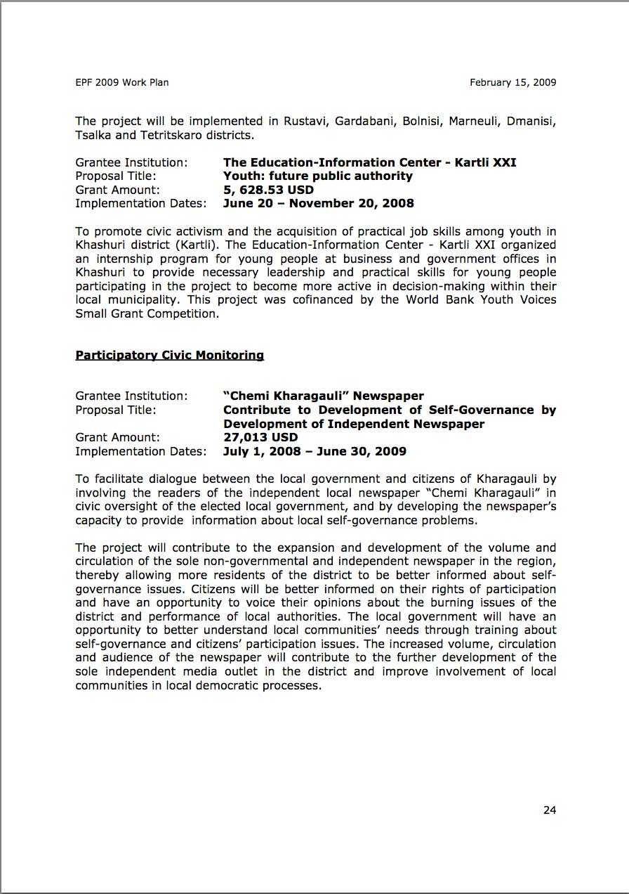 EPF Annual Report to Sida Feb 2009 Final