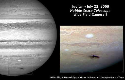 För en månad sedan kolliderade Jupiter med en asteroid.