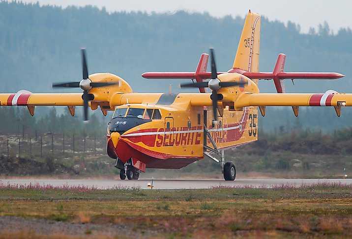 Italiensk brandflygplan.