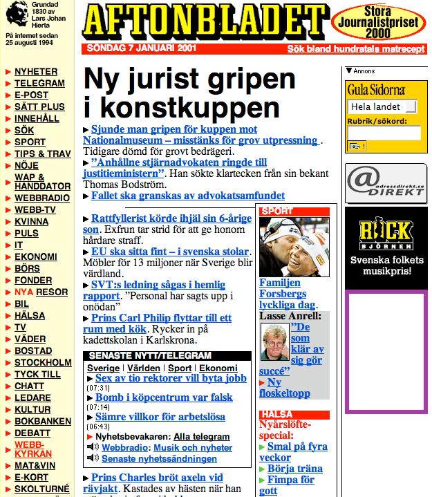 Aftonbladet 2001.