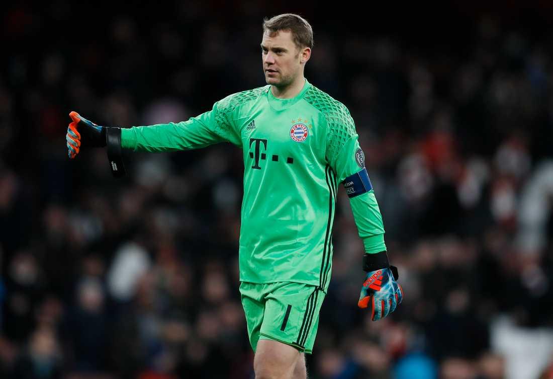 Bayern Münchens målvakt Manuel Neuer är uttagen i Tysklands VM-trupp trots skadeproblemen. Arkivbild.