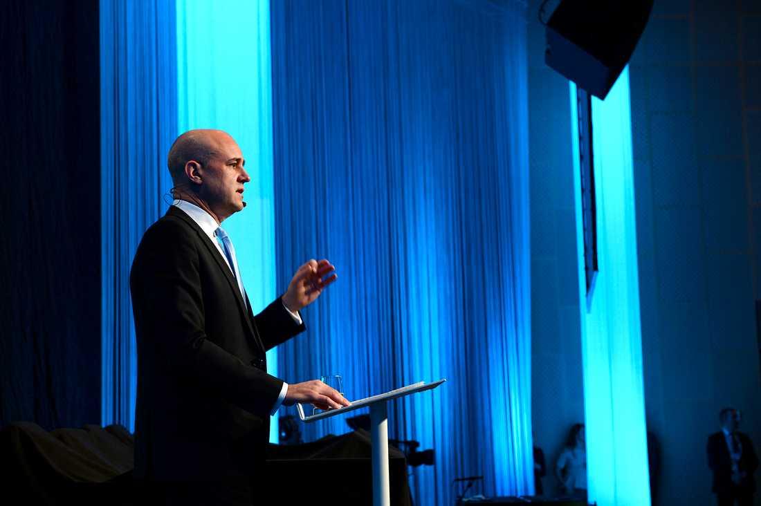 Fredrik Reinfeldt avskedstalar på moderaternas extrastämma i Friends Arena i Solna på lördagen.