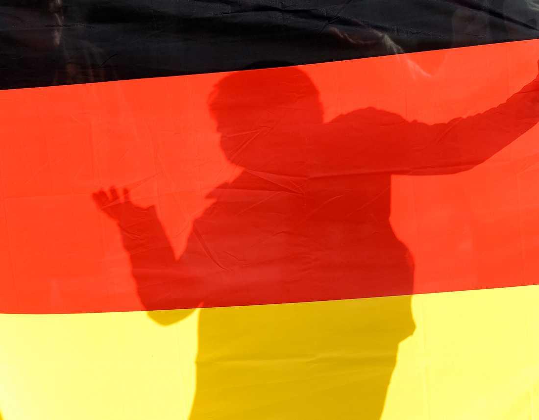 Tysk BNP visar på en tillbakagång med 0,1 procent under andra kvartalet. Arkivbild.